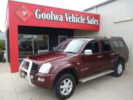 2004 HOLDEN RODEO 4X4 PETROL.