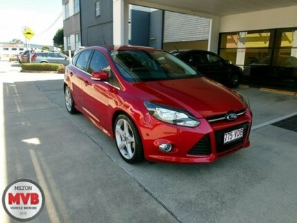 2014 Ford Focus LW MK2 Titanium Red 6 Speed Automatic Hatchback Ascot Brisbane North East Preview