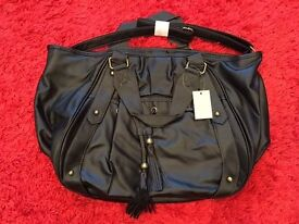 New with tags - Nicole Faux Leather Handbag - Black