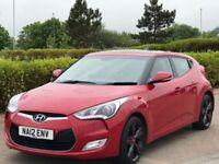 HYUNDAI VELOSTER 1.6 GDI SPORT 4d AUTO 138 BHP (red) 2012