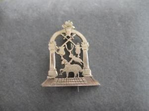 GORGEOUS OLD UNIQUELY-STYLED ANTIQUE 10K [stamped] GOLD PIN
