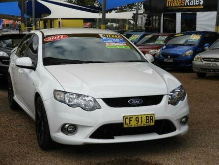 2011 Ford Falcon FG XR6 White 6 Speed Sports Automatic Sedan