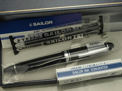Sailor Profit 21 Silver / 21K with Rhodium plating F-nib & converter 11-2024-220
