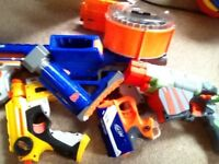 5 Nerf guns and some bullets.