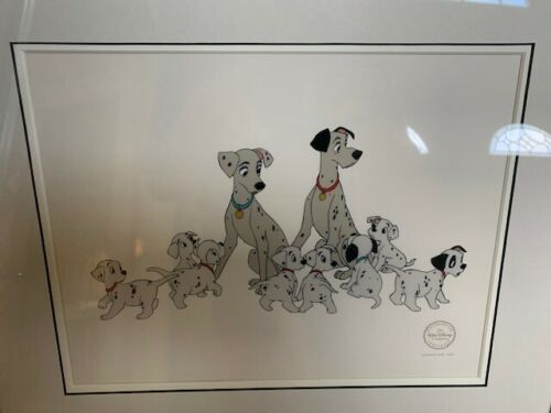 Disney Sericel Limited Edition 101 Dalmatians Perdita/Pongo and Pups Framed