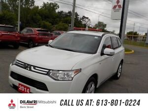 2014 Mitsubishi Outlander GT V6 7PASS/SMART CRUISE/LEATHER/ROOF/