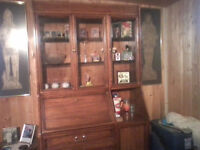 One Piece Dining Room Hutch