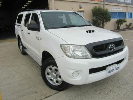 2010 Toyota Hilux KUN26R MY10 SR DUAL CAB White Manual Utility