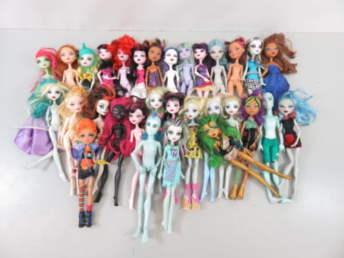 6+ Lb Bulk Lot of Loose, Assorted, Mattel Monster High Dolls - LOT