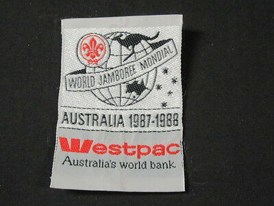 1987 88 World Jamboree Westpac Australias Bank Woven Patch  C9