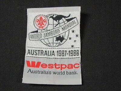 1987 88 World Jamboree Westpac Australias Bank Woven Patch  C9