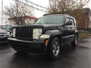 2008 JEEP LIBERTY SPORT (AUTOMATIQUE, 4X4, 3.7L, MAGS, FULL!!!)