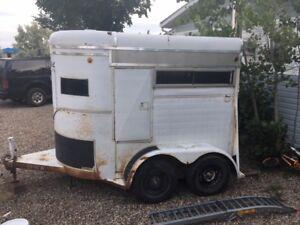 Double Stall Livestock; Cargo; Stock; Horse Trailer