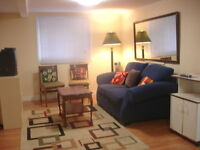 FURNISHED 1 BR GROUND FLOOR APT NEAR METRO,HEC,JGH,DOWNTOWN