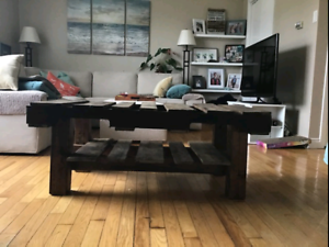 Coffee Table built with pallets & reclaimed wood