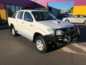 2009 Toyota Hilux KUN26R 09 Upgrade SR5 (4x4) White 4 Speed Automatic Dual Cab Pick-up Dubbo Dubbo Area Preview