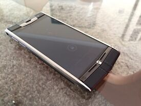 Genuine Vertu Signature Black Calfskin - Chairman's model