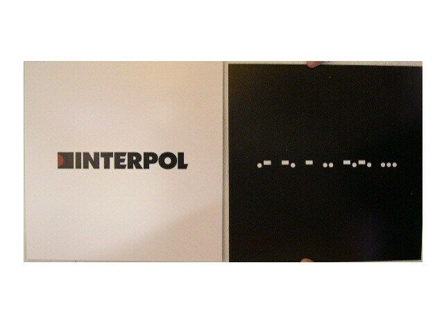 Interpol 2 Sided Poster Antics Morse Code