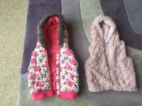 2 girls gilet (body warmers) bundle age 2-3. Jasper Conran and F&F . Great condition