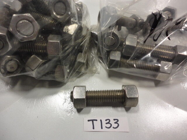 """Threaded Stainless Stud Bolt W/ Two Heavy Hex Nuts 5/8"""" x 3-1/4"""" B8M  (Pkg 28)"""