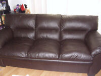 Leather couch and chair $600 OBO