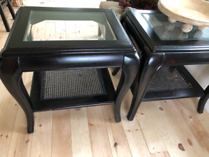 Two end tables and coffee table
