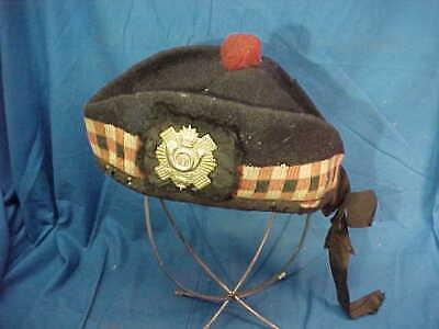 Vintage BRITISH HIGHLAND Light Infantry Rgt ASSAYE GLENGARRY Bonnet CAP