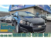 2012 Chevrolet Sonic LT - A/C - Bas milage - Mags