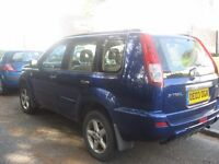 2003 NISSAN X TRAIL AUTO/O/D SWITCHABLE 4X4 ESTATE YEARS MOT POSS/PART X