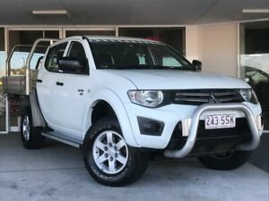 2012 Mitsubishi Triton MN MY12 GLX White 5 Speed Manual Cab Chassis Brendale Pine Rivers Area Preview