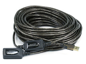 65ft 20M USB 2.0 A Male to A Female Active Extension / Repeater Cable