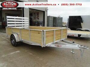 ALL ALUMINUM HIGH SIDED 6.5 X 12' LANDSCAPE TRAILER LOWEST PRICE London Ontario image 1