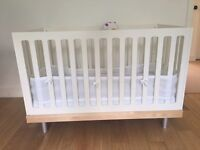 Two Gorgeous Classic Oeuf Cots with Nook mattresses