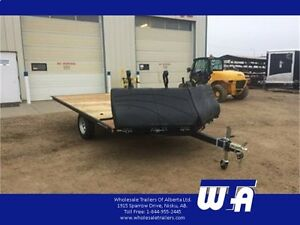 8.5X12' Snowmobile Trailer with Front Ramps