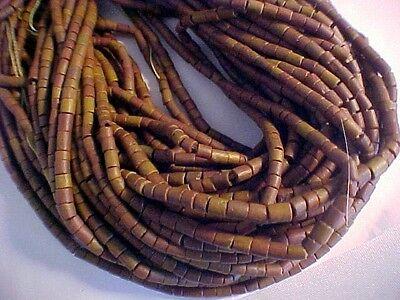 Pipestone Heishi Beads  approx. 3 mm Pipestone Heishi Beads 15 inch strands