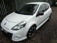 RENAULT CLIO GT 2009 1.6 3 DR HATCHBACK PETROL WHITE 87,000 MILES FULL SERVICE HISTORY MOT 22/07/18
