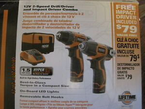Cordless driver and drill, RIDGID, Bare tools