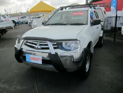 2011 Mitsubishi Triton MN MY 12 GLX White 5 Speed Manual Dual Cab Capalaba Brisbane South East Preview