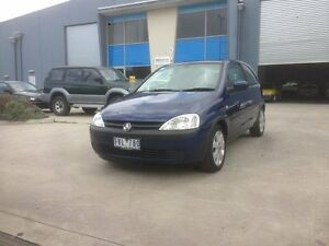 2004 Holden Barina XC MY04 SXI Blue 4 Speed Automatic Hatchback Newport Hobsons Bay Area Preview