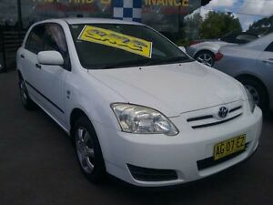 2005 Toyota Corolla ZZE122R Ascent Seca White 4 Speed Automatic Hatchback Greenacre Bankstown Area Preview