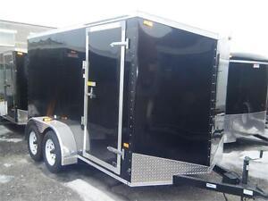 6X12 Tandem V-Nose Cargo Trailer - X Pkg w/Barn Doors