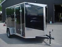 remorque neuve cargo 6' x 10' v-nose 1 essieux PORTE RAMPE VTT