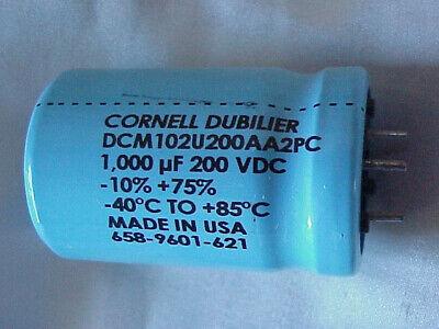 30 X 45m SLP122M200E4P3   Cornell Dubilier   Cap Aluminum Lytic 1200uF 200V 20/%