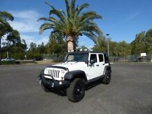 2009 Jeep Wrangler JK MY2010 Unlimited Sport White 6 Speed Manual Softtop Cabramatta Fairfield Area Preview