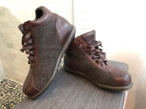 Camper Brown Leather and Cloth boots ...