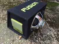 Fusion inverted car subwoofer sub
