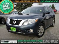 2014 Nissan Pathfinder SV 4WD | 7-Pass, Htd Seats & Steering, Re