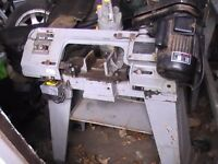 steel cutting band saw, sealey, single phase 240 volts.