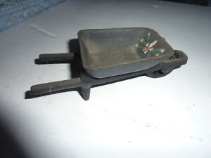 Vintage Cast Iron Wheelbarrow