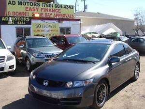 2011 HONDA CIVIC EX-L SROOF LEATHER 96K-100% APPROVED FINANCING!